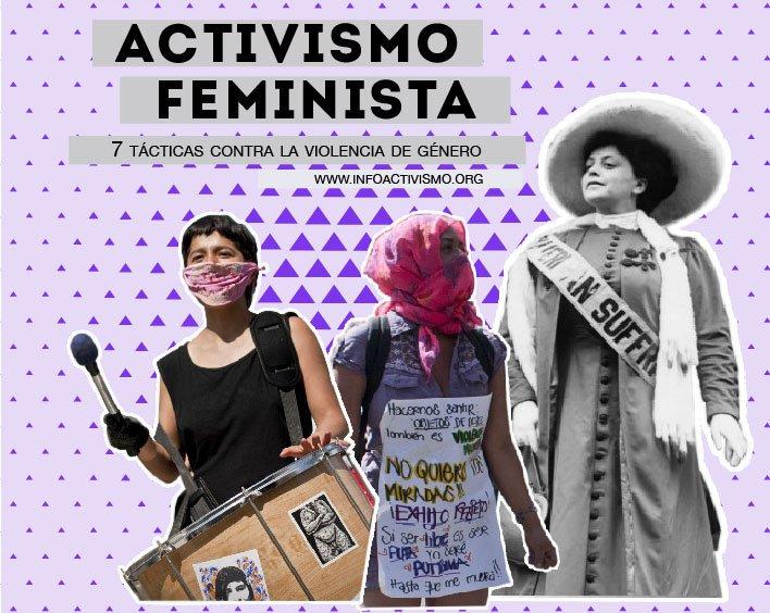 Activismo feminista contra la violencia de género.