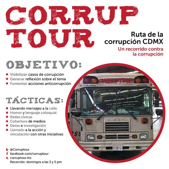Corruptour: un recorrido contra la corrupción