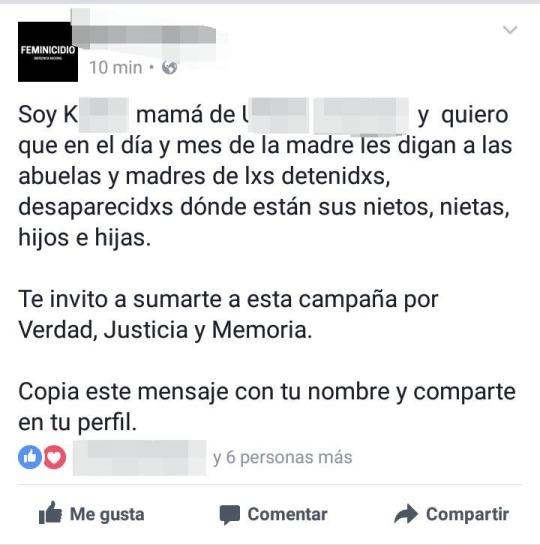 Movimientos de Madres de personas desaparecidas: México y Argentina
