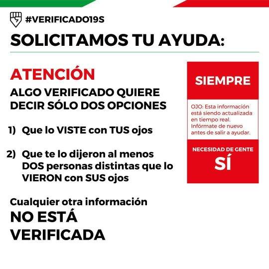 #Verificado19S y su labor de verificación en condiciones de desastre