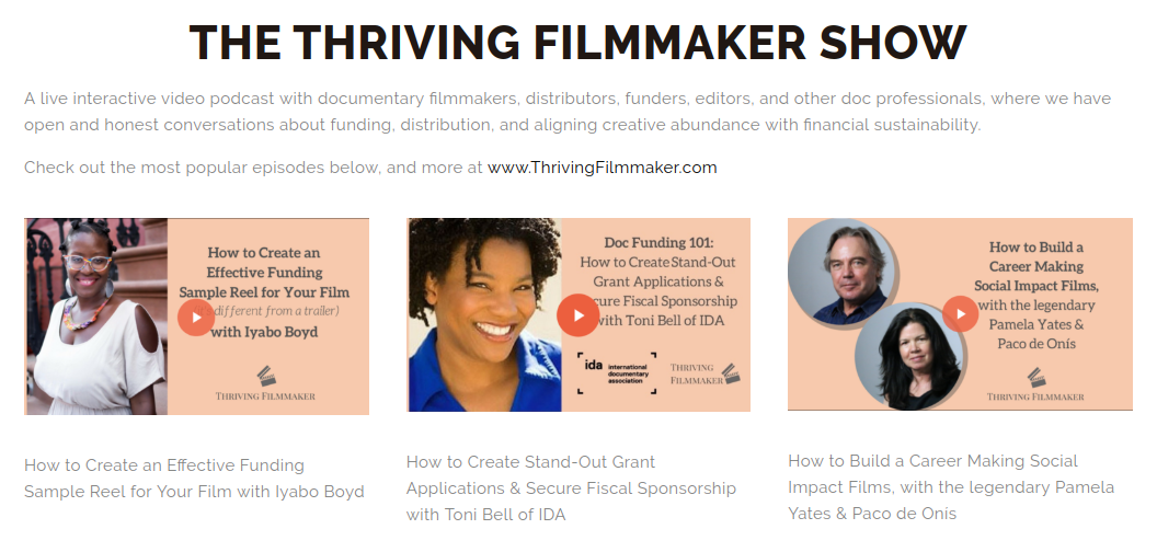 The Thriving Filmmaker Show