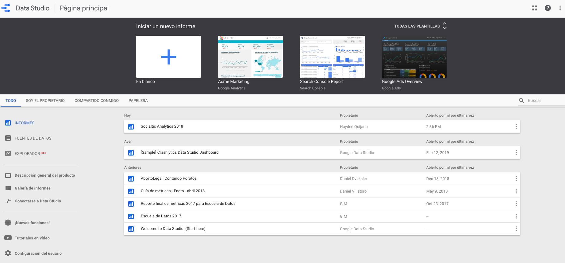 Métricas con google data studio – Guía rápida