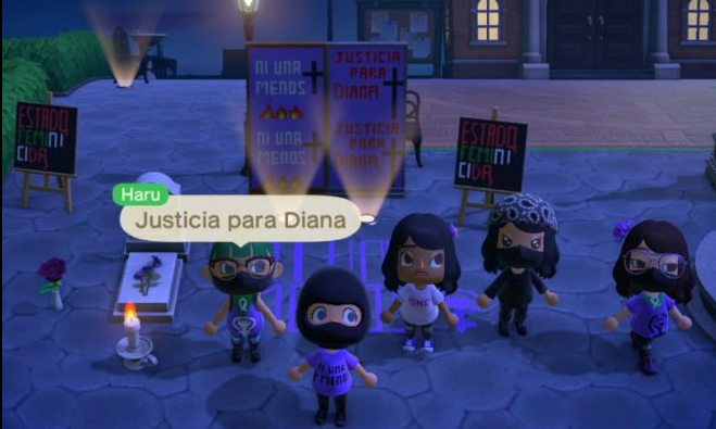 Protesta feminista virtual en Animal Crossing