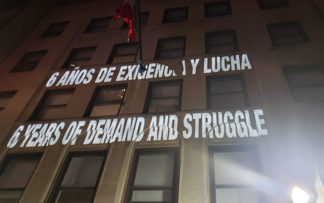 #Ayotzinapa6Años: tácticas emergentes de protesta